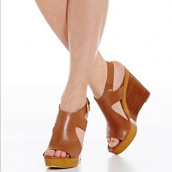 Michael Kors Josephine Leather Peep Toe